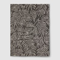 """Leaves Black Outdoor Rug - 30""""x50"""" - Project 62™"""