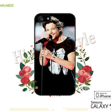 1D Phone Cases, iPhone 5/5S Case, iPhone 5C Case, iPhone 4/4S Case, Phone covers,  one direction Louis Tomlinson Case for iPhone-A032