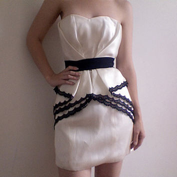 SUPER SALE--One of a kind Silk and lace Wedding/Reception/Special Occasion Dress