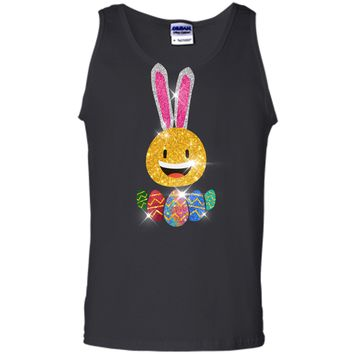 Easter Bunny Emoji T-shirt. Cute Easter Graphic Family Gifts Tank Top