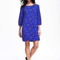 Printed Shift Dress for Women | Old Navy