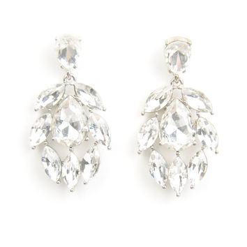 Glam Teardrop Rhinestone Earrings