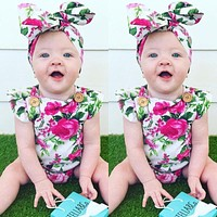 Baby Rompers Summer Baby Girl Clothes Fashion Kids Clothes 2017 Newborn Baby Clothes Flower Infant Jumpsuitst Children Clothing