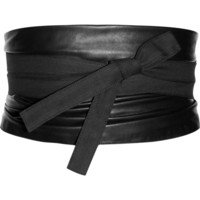 Maison Martin Margiela | Leather and canvas obi belt | NET-A-PORTER.COM