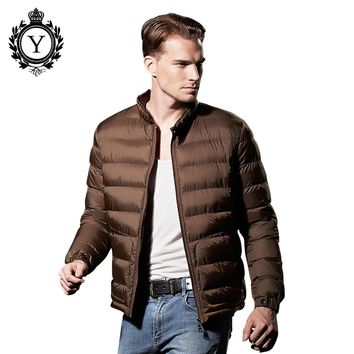 COUTUDI 2016 Winter Jacket Men Fashion Ultralight Down Jackets Nylon Parkas High Quality Men's Coats Aliexpress Ukraine Clothing