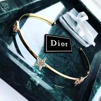DIOR fashion casual lady bracelet hot selling five-pointed star diamond bracelet