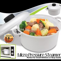 2.5L Microwave Rice Cooker,with Measuring Cup,BPA free,White,suit small kitchens or busy cooks K005