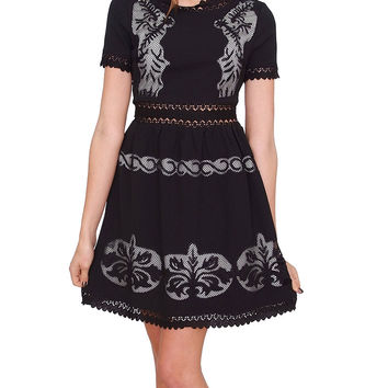 It Girl Dress By Ark & Co. - Black Print