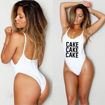 CAKE CAKE CAKE One Piece vintage Swimsuit - by  Cake Life®