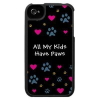 All My Kids-Children Have Paws Case For The Iphone 4 from Zazzle.com