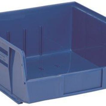 """Quantum Storage Systems Stack And Hang Bin, 10-7-8"""" X 11 X 5"""", Blue"""
