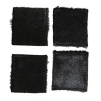Black Cowhide Coasters