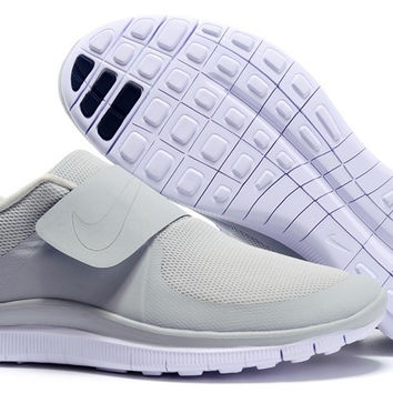 """NIKE"" Trending Light Grey Fashion Casual Running Sports Shoes"
