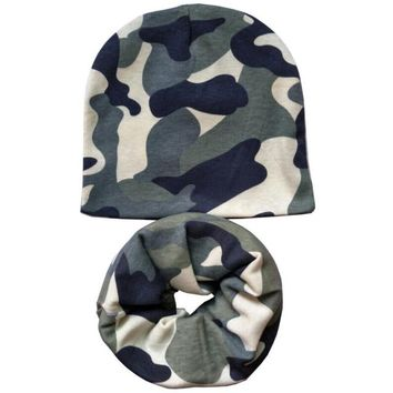 1 Set Autumn Winter Baby Hat Boys Cap Baby Girls Beanies Soft Cotton Children Hat Toddlers Infant Hat Scarf Collar Free Shipping