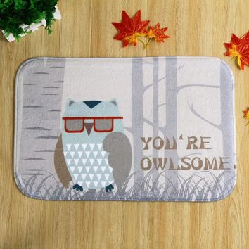 Autumn Fall welcome door mat doormat Owl Halloween s Funny Sign Home Decorative s Magic Welcome Floor Mats Front Porch Rugs 40*60CM AT_76_7