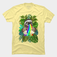 Sloth Spitting Rainbow Colors T Shirt By BluedarkArt Design By Humans