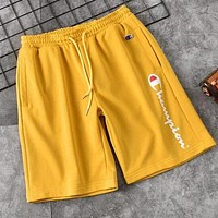 Champion Trending Men Casual Sports Running Shorts Yellow