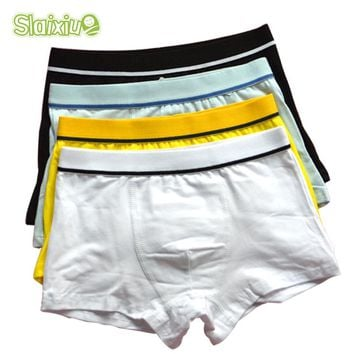 4 Pcs/lot High Quality Cotton Kids Boys Underwear Pure Color Shorts Panties For Baby Boys Boxer Children's Teenager Underwear