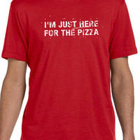 Husband Gift Pizza Party I'm Just Here For the Pizza Mens T shirt Boyfriend Gift Funny T Shirt Father Day Gift Graphic Tee Gift tshirt