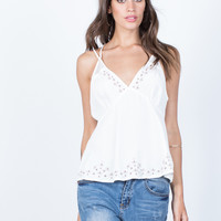 Elise Embroidered Tank
