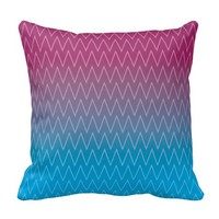 Purple Teal Blue Gradient Color Chevron Pattern