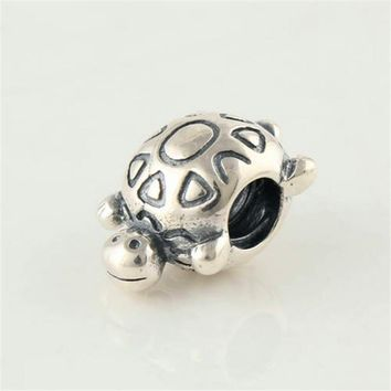 CKK Genuine 925 Sterling Animal turtle Fit Charm Bracelets Diy Beads for Jewelry Making Fine Jewelry free shipping PW144