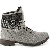 Rock & Candy Spraypaint Flannel Combat Boot