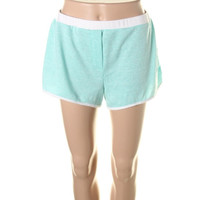Lily White Womens Knit Contrast Trim Athletic Shorts