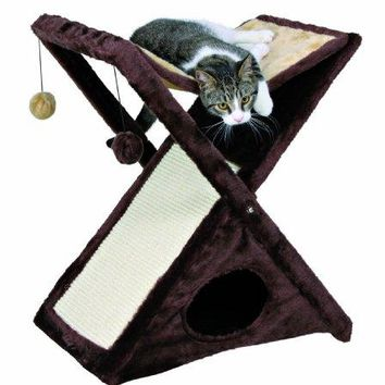 TRIXIE Pet Products Miguel Fold and Store Cat Tower : Cat Houses And Condos : Pet Supplies