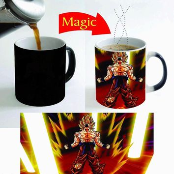 goku mugs dragon ball z mug heat sensitive mug coffee  transforming
