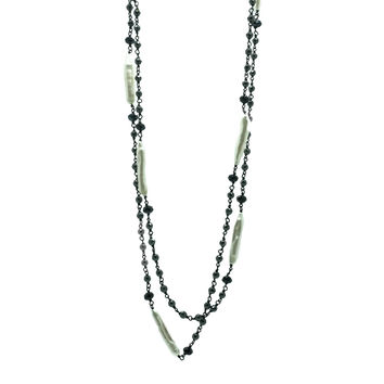 Composition in Mother-of-Pearl and Hematite, Necklace