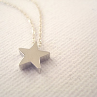 Sterling Silver Necklace With Tiny Star Bead