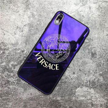 Fashion VERSACE Mirror Case For iPhone 6 6s 6plus 6s-plus 7 7plus iphone 8 iphone X XS Max XR