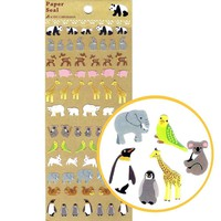 Adorable Realistic Mixed Animal Illustration Stickers for Scrapbooking and Decorating