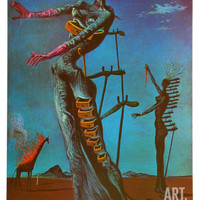 The Burning Giraffe, c. 1937 Art Print by Salvador Dalí at Art.com