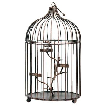 Charming Metal Bird Cage - Benzara