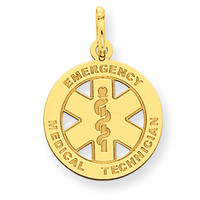 14k Small EMT Medical Charm YC506