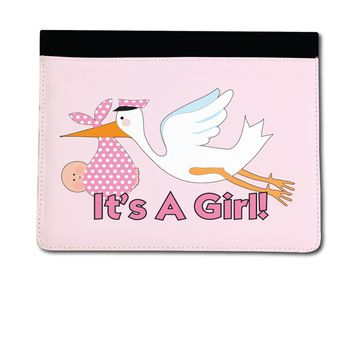 It's A Girl Stork iPad 2, 3 & 4 Leather Cover