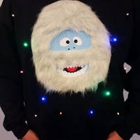 Mens Ugly Christmas Sweater - Bumble the Abominable Snow Monster