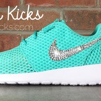 Nike Roshe One Customized by Glitter Kicks - White/Teal