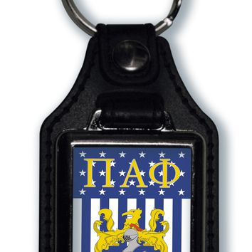 Pi Alpha Phi US Flag Style Licensed Greek Life Keychain