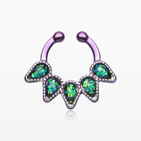 Colorline Opal Quinary Spear Fake Septum Clip-On Ring