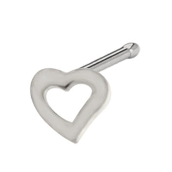 Sterling Silver Heart Nose Bone | Body Candy Body Jewelry