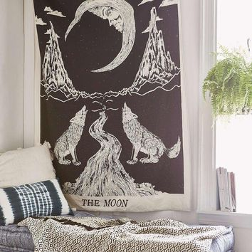 Day-First™ Moon Wolf Wall Boho Hanging Tapestry