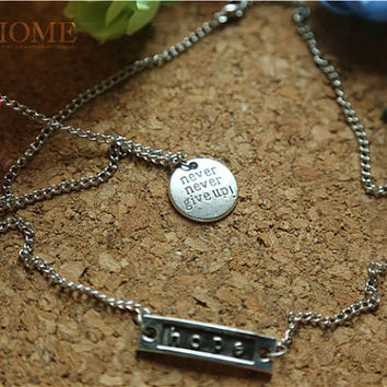 Clavicular / rectangular chain necklace jewelry for her him beautiful surprise gift 45