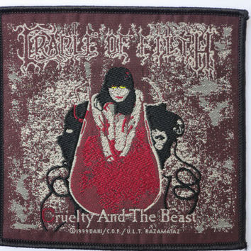 CRADLE OF FILTH Cruelty Vintage Sew On Woven Patch 1999