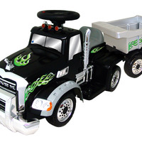 New Star Mack 6V Battery Powered Truck with Trailer