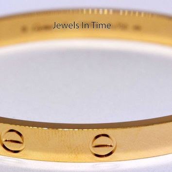 Cartier Love Bracelet 18 18k Yellow Gold Box/Certificate/Tool NEW B6035518
