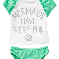 "Old Navy ""Mermaids"" Tankinis For Baby"