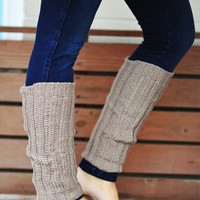 Nice And Cozy Leg Warmers: Beige | Hope's